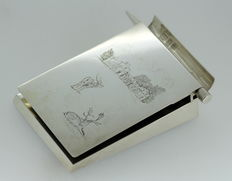 Solid Silver Notepad and Pen, Made by Asprey & Co Engraved By J.Purdey & Sons (Gun Makers), London 1960