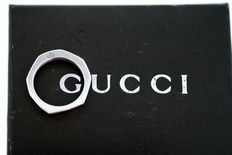 Gucci - Sterling Silver Ring, Made in Italy 1990's