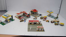 Classic Town / Shell - 6371 + 6378 + 377 + 1256 - Service Station (3x) + Shell Petrol Pump (2x)