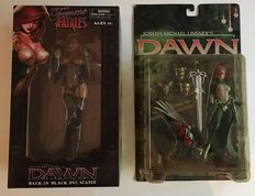 Dawn Femme Fatales Back in black + Dawn - 2 Figurines - Linsner, Joseph Michael - McFarlane Toys and Diamond Select - (1999 / 2010)