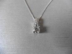 18k Gold Diamond-set Drop Pendant - 0.25ct  G-I, VS-SI1