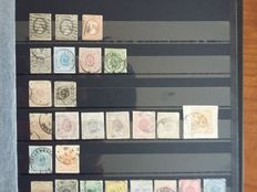 Luxembourg 1852/1954 - selection of stamps and series in stock books