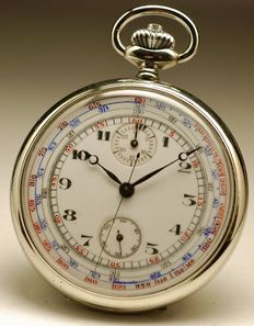 Chronograph pocket watch – Men's pocket watch – 1920s