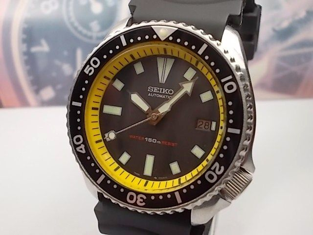 SEIKO 150M SCUBA DIVERS AUTOMATIC wrist watch, model 7002