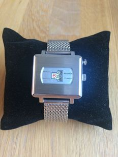 Hudson Instalite Jump Hour Watch, Heren-Damespolshorloge jaren '70