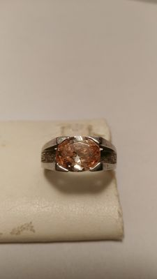 Ring in 925 silver with citrine quartz