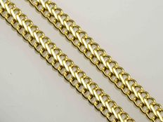 18 kt yellow gold necklace diamond cut