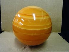 Large polished Orange Calcite sphere - 14,2cm - 4,9kg
