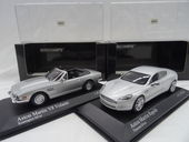 Check out our Minichamps - Scale 1/43 - Lot with 2 Aston Martin Models: V8 Volante 1987 and Rapide 2010 - Colour Silver