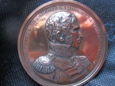 France – XIX siècle – Medallion 'André Massena' by Jaley – Copper