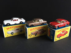 Lesney Matchbox - Misc. scales - Ford Mustang No.8, Ford Cortina No.25 and Volkswagen 1500 tl No.67