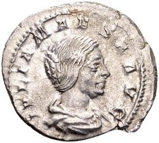 Roman Empire - Silver Denarius of Julia Maesa, grandmother of Elagabalus, died 225 AD, struck in Rome 218-222 AD