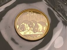China – 20 Yuan gold coin – China Panda – 2013 edition – .999 Gold