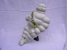 Old original Michelin bibendum doll with support-1960s -plastic-47 cm high