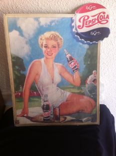 Pepsi-Cola advertising sign in Arabic - 1950s/1960s