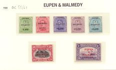 Belgium 1920 – 3 full series of occupation stamps – OBP OC 55/83