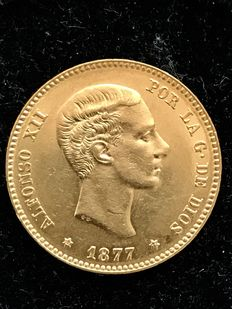 Spain - Alfonso XII - 25 pesetas gold - 1877 - Madrid