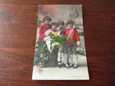 Romance - Children - Boys and girls - 222 postcards from 1903