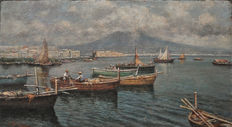 Attilio Pratella (1856-1949) - Marina nel Golfo di Napoli (Marina in the Gulf of Naples)