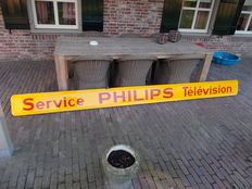 "Unique enamel advertising sign ""Philips"" television"