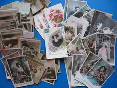 Collection of  252 old fantasy post cards