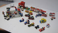 Classic Town - 7 sets o.a. 6381 + 6671 - Motor Speedway + Utility Repair Lift