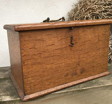 Old box of oak wood - Holland - early 1900 's
