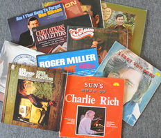 Lot of 11 original Country & Western albums by Don Gibson Charlie Rich, Chet Atkins and others