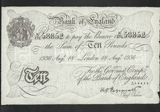 Germany / UK - 10 pounds 18 August 1936 - Operation Bernhard - like Pick 336a
