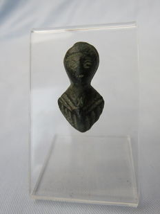 Roman bronze bust of the solar deity – SOL – 2.6 cm x 1.4 cm