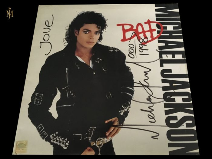 8f026cab58900c Michael jackson Signed Bad Album Comes With UACC Certificate ...
