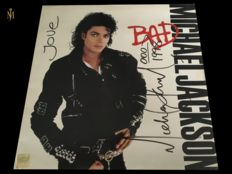Michael jackson Signed Bad Album Comes With UACC Certificate , Signed With Huge Signature, Love, Dated And MJ Added his famous arrow aswell.