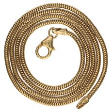 Yellow gold snake necklace 14 kt - 45 cm