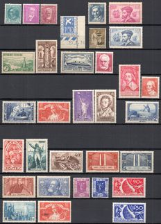 France 1933/1937 – Set of 70 stamps between Yvert n° 291 and 371