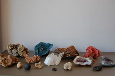 Collection of minerals and fossils - 3 kg (15)