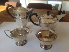 Silver plated coffee and tea set – Mid 20th century