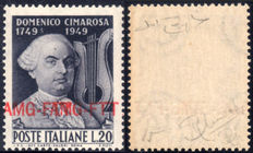 Trieste A 1949 AMG-FTT Cimarosa - Double overstamp - MNH