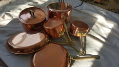 France copper pans set of six