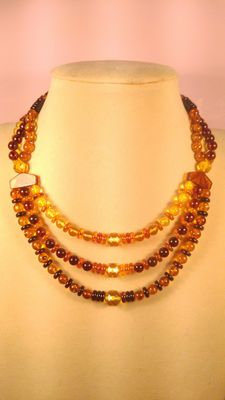 Genuine Baltic amber necklace 38gr