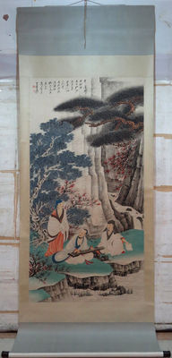 Hand-painted scroll painting - China - 2nd half 20th century