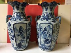 Two large vases with Asian tints - China - mid 20th century.