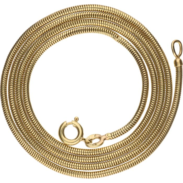 14 kt yellow gold snake necklace – 49 cm