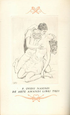 Ovid- The Art of Love - new translation. Decorated with 17 original etchings by Andre Brunet- 1950.