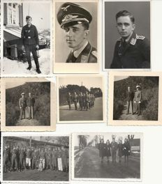 Third Reich; Lot 14 x original photos officers, non-commissioned officers and soldiers German Luftwaffe, portraits WW2