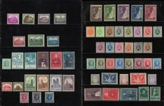 Belgium 1926/1930 - Selection stamps with cathedrals, Heraldic Lion, BIT and castles - OPB 237/314