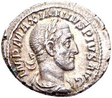 Roman Empire - Silver Denarius with Emperor Maximinus I (235 - 238 Ad), minted in Rome