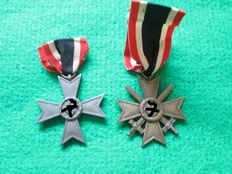 Third Reich. War Merit Cross with and without swords WWII