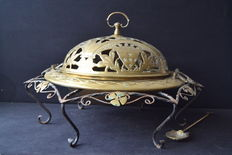 Large brazier - copper and iron suport - Portugal