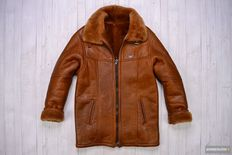 Armani Made in Italy Shearling Leather Jacket