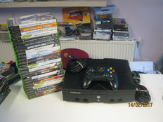 Microsoft XBOX console with 25 boxed games - GTA San Andreas, Catwoman, Breakdown, 007, Rainbow Six 3, Halo 1&2, Memorick,time splitters,etc